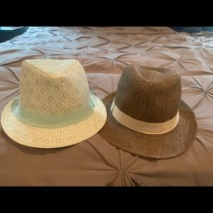 Two Women's Fedora Hats New with Tags